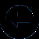 left,arrow,circle icon