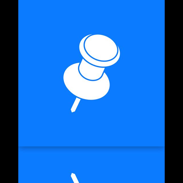 pin, mirror icon