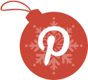 pinterest, ball, christmas icon