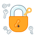 key, protect, safety, lock, privacy, secure icon