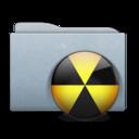 Folder Graphite Burn icon