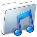 smooth, graphite, music, folder icon