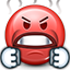 angry, smiley, mad, emot, smiley face, boiled, red face icon