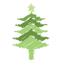 tree, decoration, christmas, holiday, ornaments, xmas, scribble icon
