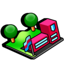 kiosk, campus, university, dorm, school, library icon