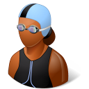 Sport Swimmer Female Dark icon