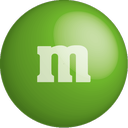 chocolate, green, color, colour, m&m icon