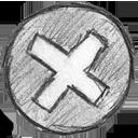 hand written, error icon