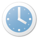 clock, alarm, time, blue, alarm clock, history icon