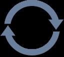 waiting, refresh, radial, arrows icon
