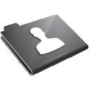 grey, user icon