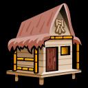 cabana, beach icon