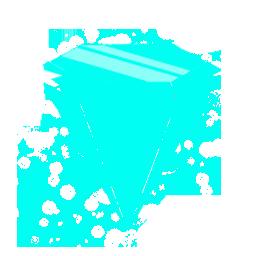 Rave Blue Diamond Icon Fun Icon Sets Icon Ninja