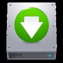 descending, descend, hard drive, hard disk, hdd, decrease, fall, down, download icon