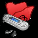 folder,red,mymusic icon