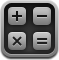 calc, math, calculator, mathematics, calculation icon