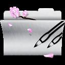 Folder, Photoshop, White icon