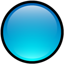 Blank, Blue, Button icon