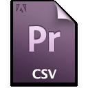 Csv, Document, File, Pr icon