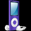 iPod Nano purple on icon