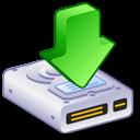 downloads, hard, drive icon