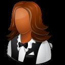 Dark, Female, Waitress icon