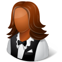 Occupations Waitress Female Dark icon