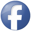 button, blue, social, facebook icon