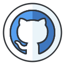 network, internet, online, social, media, github icon