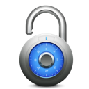 blue unlock, unlock icon