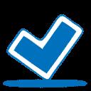 blue ok icon