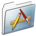 application,folder,graphite icon