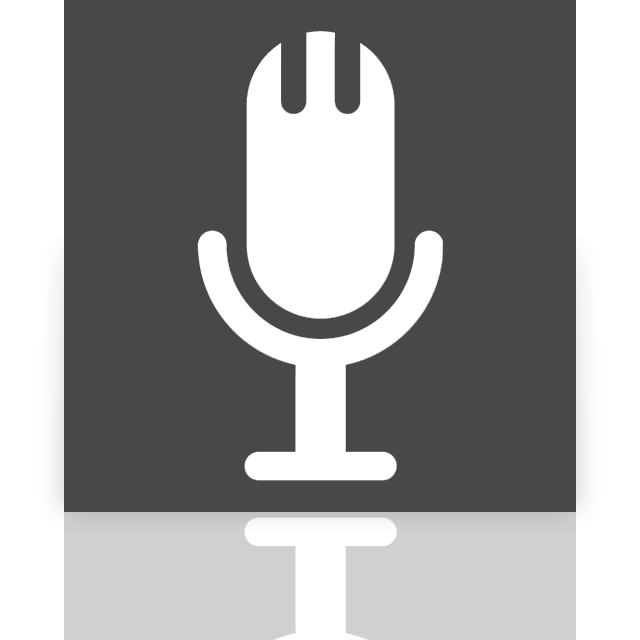 mirror, microphone icon