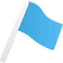 flag blue icon