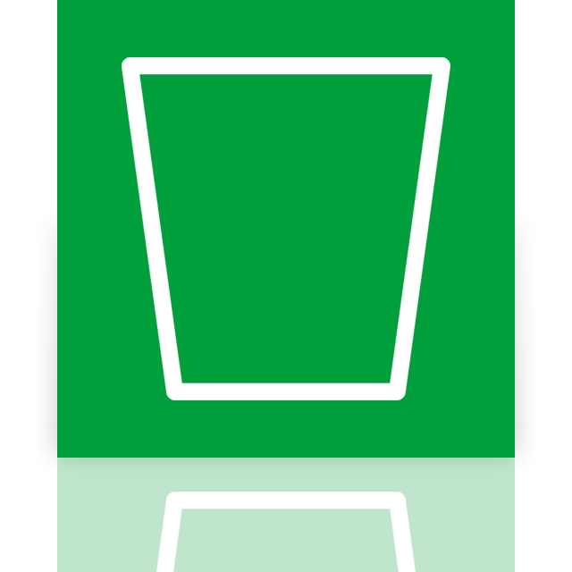 recycle, bin, empty, mirror icon