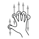 finger, five, scroll, gestureworks icon
