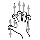 finger, five, scroll, gestureworks icon
