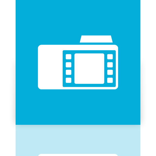 mirror, folder, video icon