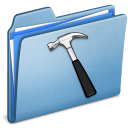 developer, blue icon