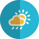cloudy rain folded icon