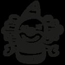 Clown hand drawn toy icon