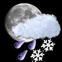 moon, slush icon