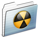Burnable, Folder, Graphite, Stripe icon