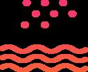 Sea snow icon