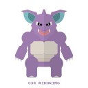 pokemon, nidoking, poison, kanto icon
