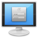 screen, login, monitor, computer icon