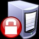 locked, computer, security, lock, server icon