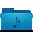 blue, music, folder icon