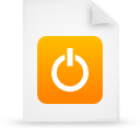 paper, file, document, orange icon