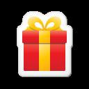 christmas, gift, xmas, present, sticker icon